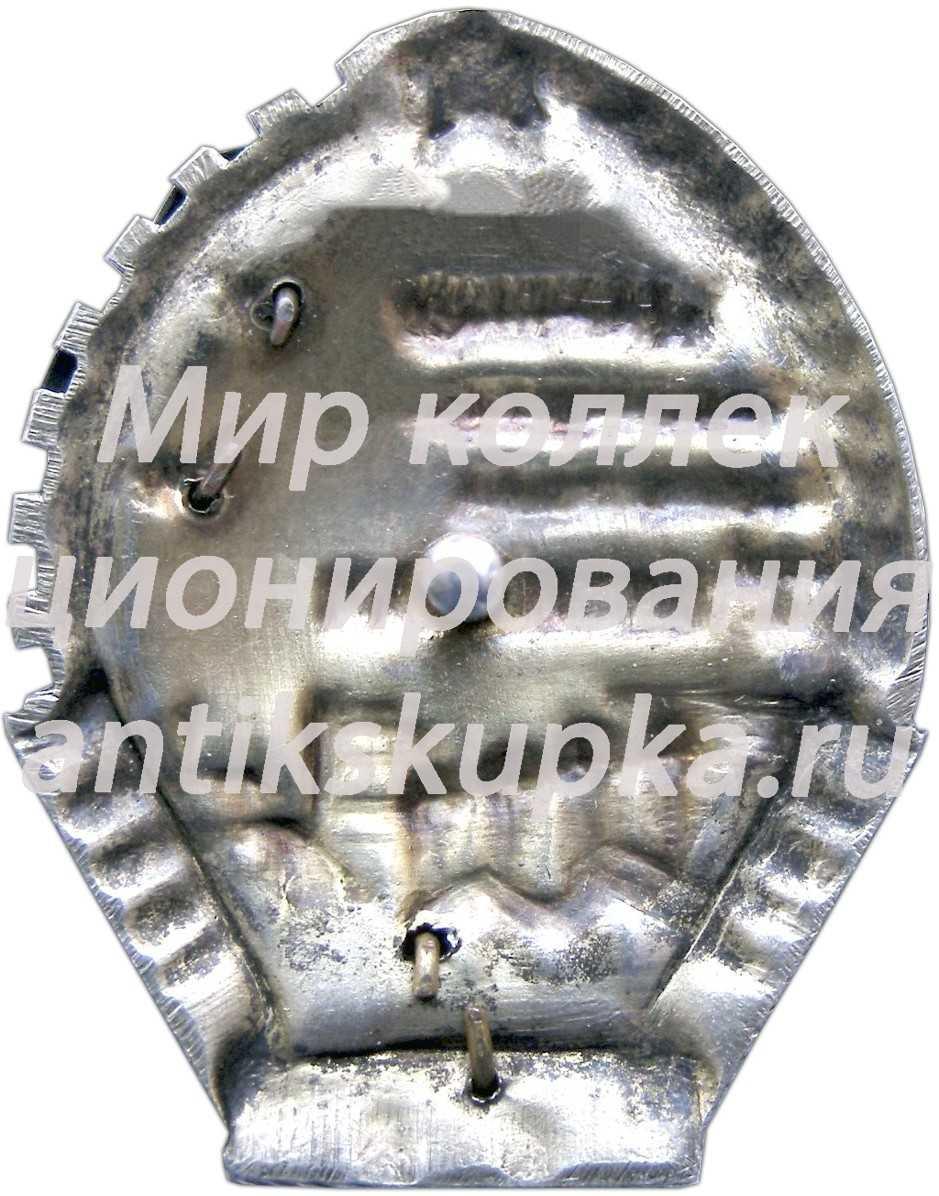 Знак «Ударнику завершающего года 1-й пятилетки. XV лет Октября»