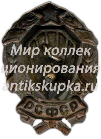 Нагрудный знак командного состава РКМ (рабоче-крестьянской милиции)