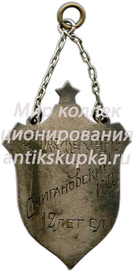 Жетон «12 лет. 3-й прожекторный батальон. Рабоче-крестьянская Красная армия»