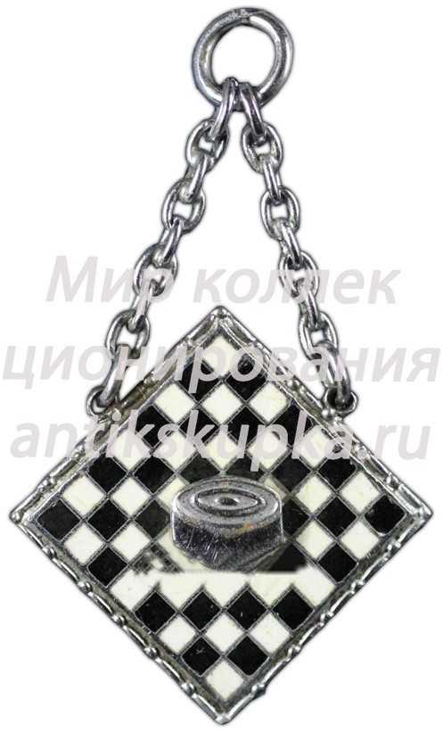 Жетон участника 1-го Всесоюзного шахматного-шашечного турнира ДСО «Снайпер»