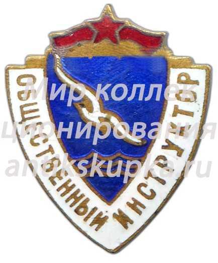 Знак «ДСО (Добровольное Спортивное Общество). Буревестник. Общественный инструктор»