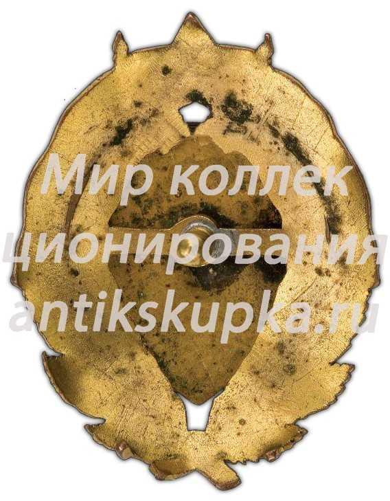 Знак «Школа комсостава Петроградской губернской милиции. III выпуск»
