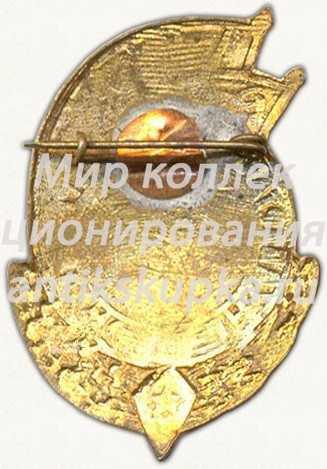 Знак «Спартакиада ПВО Туркестанского военного округа (ТуркВО). Чемпион. Прыжки в воду»