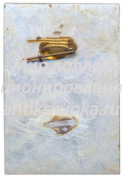 Знак «VIII Зимняя спартакиада профсоюзов СССР. 1975. Служебный»
