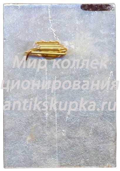 Знак «VIII Зимняя спартакиада профсоюзов СССР. 1975. Тренер»