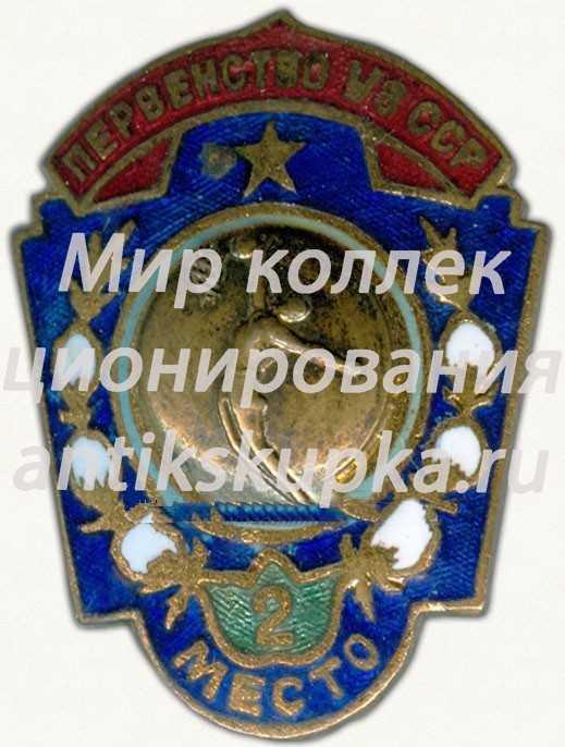 Знак за 2 место в первенстве Узбекской ССР. Баскетбол