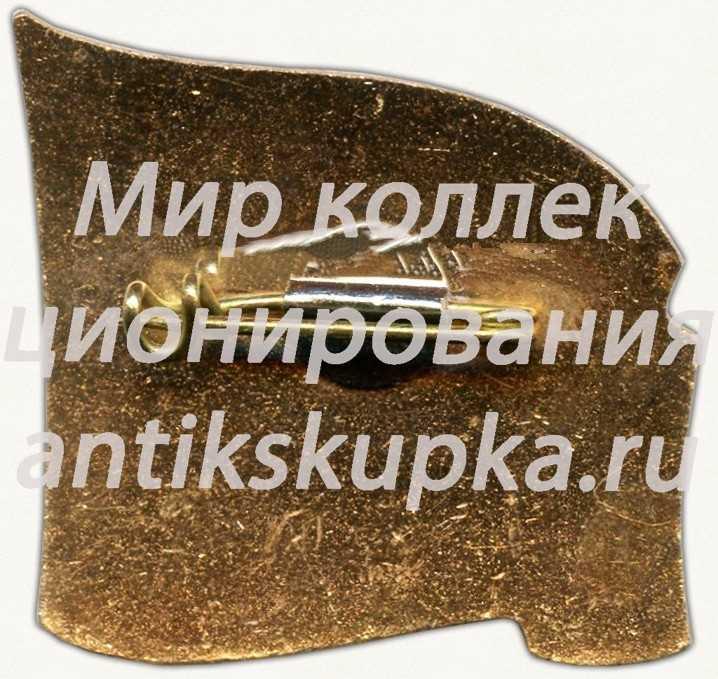 Знак делегата XIX съезд ВЛКСМ. Комсомол Латвии