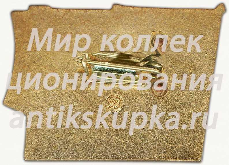 Знак делегата XXIII съезда ЛКСМУ Украинская ССР